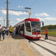 Трамвайные пути к стадиону «Самара-Арена». Застройщик «Абсолют».